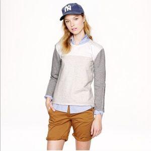 J Crew back zip colorblock sweatshirt